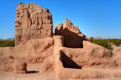 Casa Grande Ruins National Monument of the Pre-columbian Hohokam Indians in Ariz Stock Photos