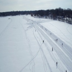 Winter Festival Cross Country Ski Race Stock Footage