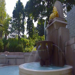 Fountain of Saint Joseph's Oratory Stock Footage