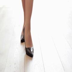 Female legs in black high heels HD Stock Footage
