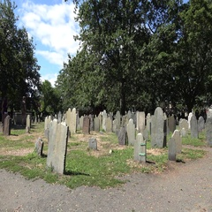 The Old Burying Point Cemetery, Salem, MA. Stock Footage
