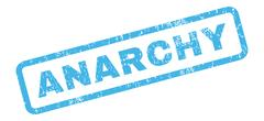 Anarchy Rubber Stamp Stock Illustration
