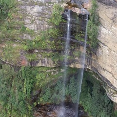 34 Aerial view of Katoomba Falls in the Blue Mountains Australia  Stock Footage