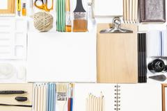 Painting and stationary equipment Stock Photos