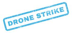 Drone Strike Rubber Stamp Stock Illustration