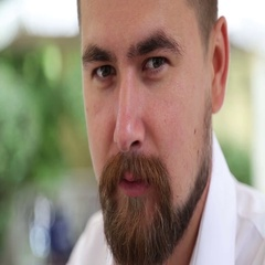 Man with moustache and beard smoking hookah Stock Footage