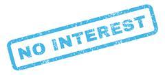 No Interest Rubber Stamp Stock Illustration