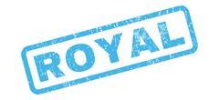 Royal Rubber Stamp Stock Illustration