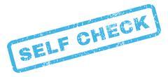 Self Check Rubber Stamp Stock Illustration