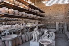 Archaeological finds in Pompeii Stock Photos