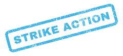 Strike Action Rubber Stamp Stock Illustration