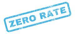 Zero Rate Rubber Stamp Stock Illustration