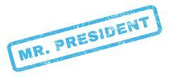 Mr.President Rubber Stamp Stock Illustration