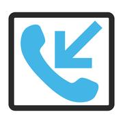Incoming Call Framed Vector Icon Stock Illustration