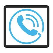 Phone Call Framed Vector Icon Stock Illustration
