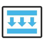 Pressure Down Framed Vector Icon Stock Illustration