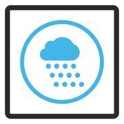 Rain Cloud Framed Vector Icon Stock Illustration
