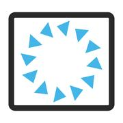 Rotate CCW Framed Vector Icon Stock Illustration