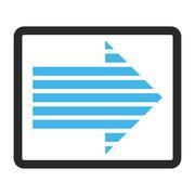 Stripe Arrow Right Framed Vector Icon Stock Illustration