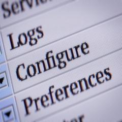 Configure. Looping. My own design of program menu. Stock Footage