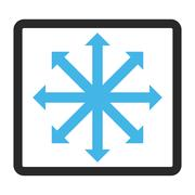 Expand Arrows Framed Glyph Icon Stock Illustration