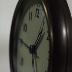 Clock second hand ticking Stock Footage
