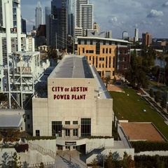 City of Austin Power Plant Stock Footage