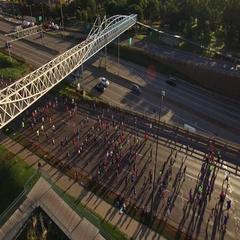 Fall Marathon - Marathon Morning in Minneapolis Arkistovideo