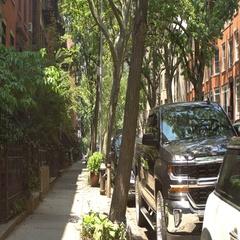 Brooklyn red brick buildings Stock Footage
