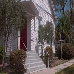 Establishing Shot of Old Wooden Church Building, 4K Stock Footage