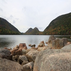 Jordan Pond. No Audio. Stock Footage