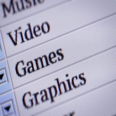 Games. Looping. My own design of program menu. Stock Footage