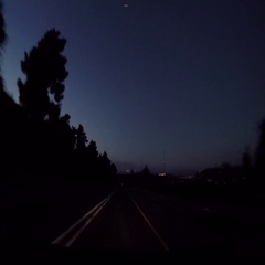 Driving Shot at Night Israel 2 Stock Footage