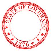 Colorado State Rubber Ink Stamp Stock Illustration