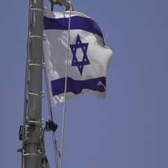 Israeli Flag on Ship's Mast 2 Stock Footage