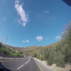 Driving Shot Israeli-Lebanon Border Stock Footage