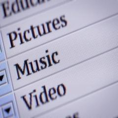 Music. Looping. My own design of program menu. Stock Footage