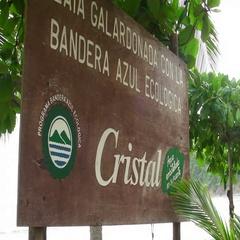 Costa Rica Cristal Spanish Sign Stock Footage