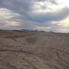 Desert Sunset Dirt Bike Jump HD Stock Footage