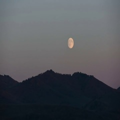 Moon timelapse in Altay mountains Stock Footage