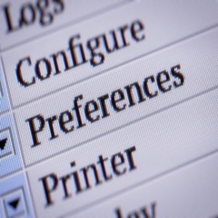 Preferences. Looping. My own design of program menu. Stock Footage