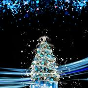 Christmas holiday blinking abstract background. hristmas tree Stock Photos