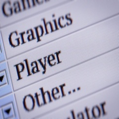 Player. Looping. My own design of program menu. Stock Footage