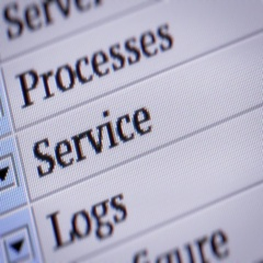 Service. Looping. My own design of program menu. Stock Footage