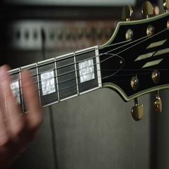 F major chord on electric guitar Stock Footage