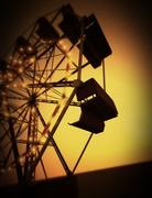 Ferris Wheel at sunset Stock Illustration