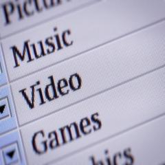 Video. Looping. My own design of program menu. Stock Footage