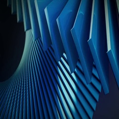 Blue digital background with 3d spiral structures  Stock Footage