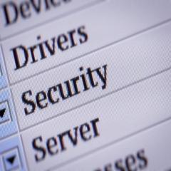 Security. looping. My own design of program menu. Stock Footage
