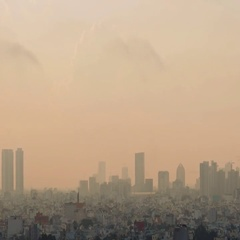 Dawn over the city of Ho Chi Minh City Stock Footage